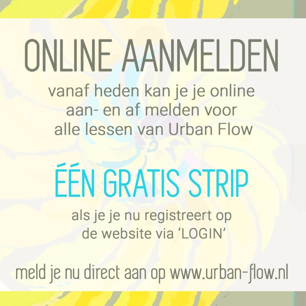 Online Registratiesysteem Urban Flow. Yoga, Pilates, Essentrics lessen in Haarlem-Noord